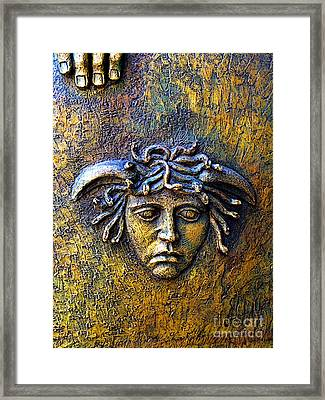 Bronze Medusa Framed Print by Mexicolors Art Photography