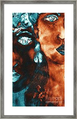 Bronze Sisters Painting Framed Print