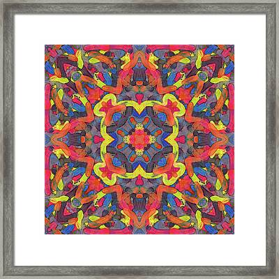 Bronze Soup -pattern- Framed Print by Coded Images