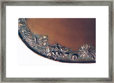Bronze Tray Detail With Locust Framed Print by Dawn Senior-Trask