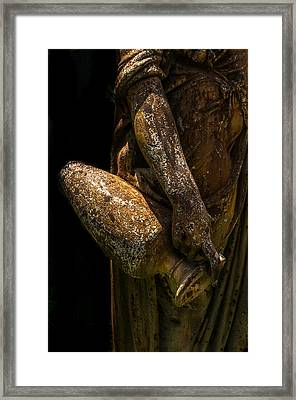 Bronze Woman With Urn Framed Print by Xavier Cardell