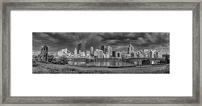 Brooding Above The Burgh Framed Print
