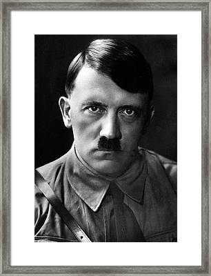 Brooding Portrait Of Adolf Hitler Heinrich Hoffman Photo Circa 1935 Framed Print