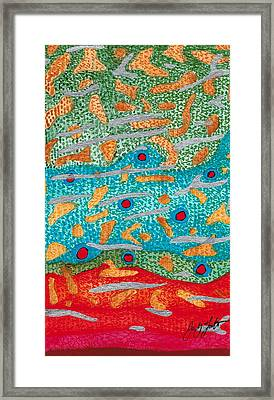 Brook Abstract Framed Print