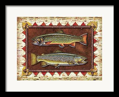 Brown Trout Framed Prints