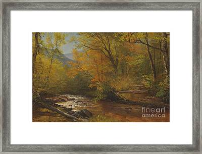 Brook In Woods Framed Print by Albert Bierstadt