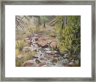 Framed Print featuring the painting Brook by Saundra Johnson