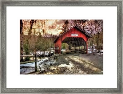 Brookdale Covered Bridge - Stowe Vt Framed Print