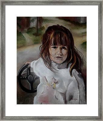 Brooke Framed Print by Diana Moya