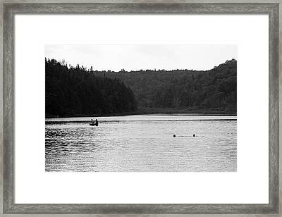 Framed Print featuring the photograph Brookfield, Vt - Swimming Hole 2006 Bw by Frank Romeo