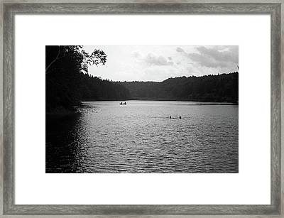 Framed Print featuring the photograph Brookfield, Vt - Swimming Hole Bw 2 by Frank Romeo