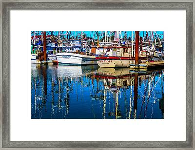 Brookings Boat Habor Framed Print by Garry Gay