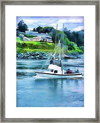 Brookings Boat Oil Painting Framed Print