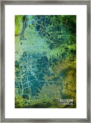 Brooklin Map Art Year 1898 Framed Print