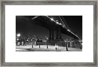 Brooklyn And Manhattan Bridges Framed Print