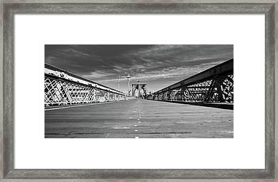 Brooklyn Bound Framed Print by David Hahn