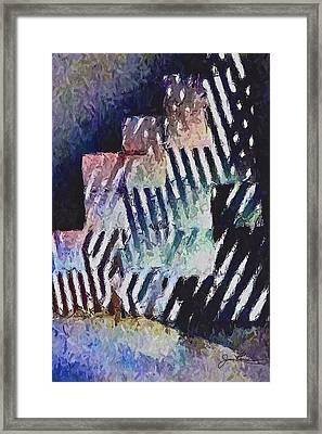 Brooklyn Boxes Framed Print by Joan Reese