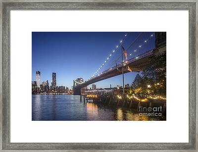 Brooklyn Brdige New York  Framed Print