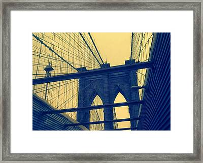 New York City's Famous Brooklyn Bridge Framed Print