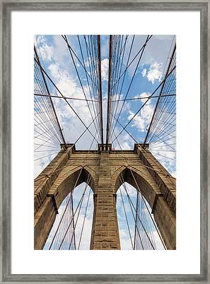 Framed Print featuring the photograph Brooklyn Bridge 3 by Emmanuel Panagiotakis