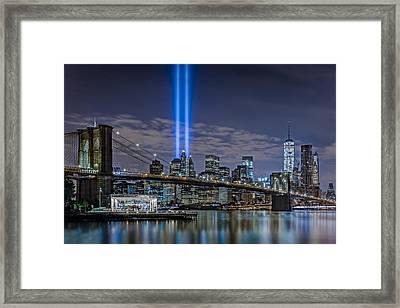 Brooklyn Bridge 911 Tribute Framed Print