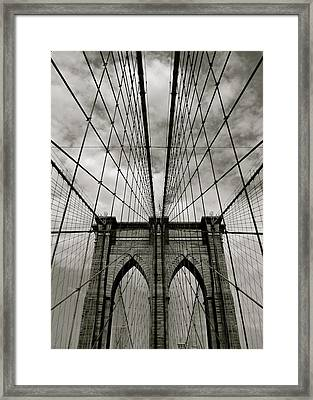 Brooklyn Bridge Framed Print by Adrian Hopkins