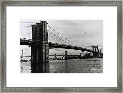 Brooklyn Bridge Framed Print by Anthony Butera