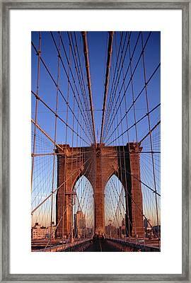 Brooklyn Bridge Framed Print by Brooklyn Bridge