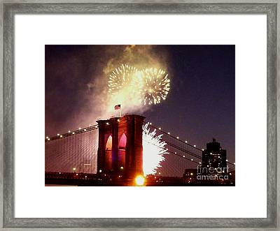 Brooklyn Bridge Celebration Framed Print