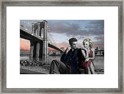 Brooklyn Bridge Framed Print by Chris Consani
