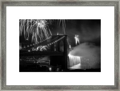 Brooklyn Bridge Columbus Quincentennial 1992 Framed Print by Tom Callan