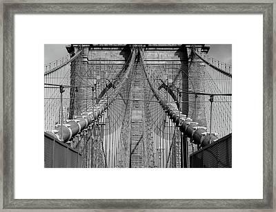Framed Print featuring the photograph Brooklyn Bridge by Emmanuel Panagiotakis