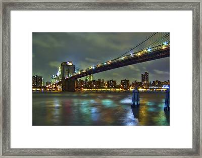 Brooklyn Bridge Framed Print by Evelina Kremsdorf