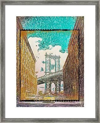 Manhattan Bridge From The East Side Framed Print
