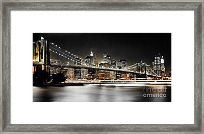 Brooklyn Bridge  Framed Print by Gull G