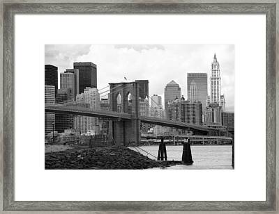 Brooklyn Bridge I Framed Print by Chuck Kuhn
