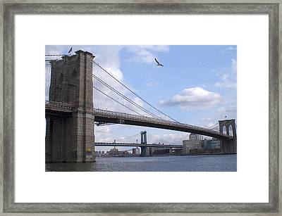 Brooklyn Bridge  Framed Print by Henri Irizarri