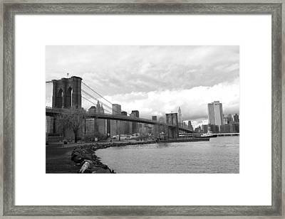 Brooklyn Bridge II Framed Print by Chuck Kuhn