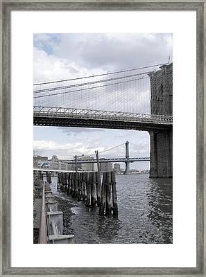 Brooklyn Bridge II Framed Print by Henri Irizarri