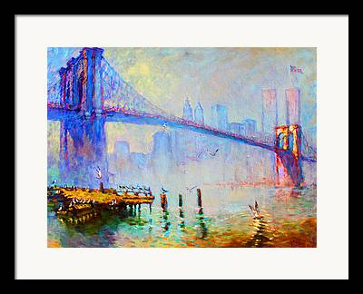 Twin Towers World Trade Center Framed Prints