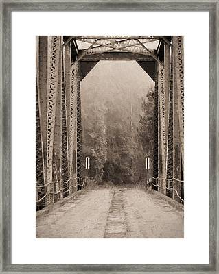 Brooklyn Bridge Framed Print by JC Findley