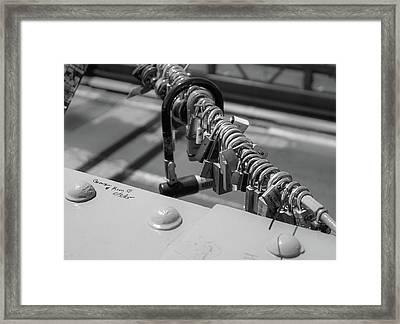 Brooklyn Bridge Love Locks In New York, New York Framed Print
