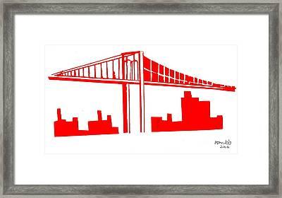 Brooklyn Bridge Framed Print by Michael Grubb