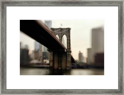 Brooklyn Bridge, New York City Framed Print by Photography by Steve Kelley aka mudpig