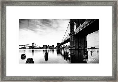 Brooklyn Bridge Ny Framed Print by Gull G