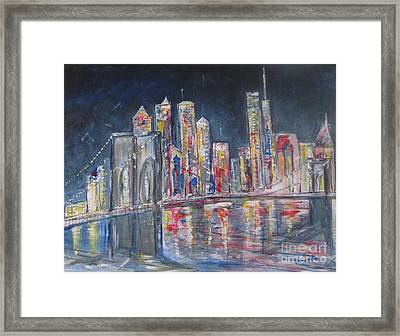 Brooklyn Bridge Ny Framed Print