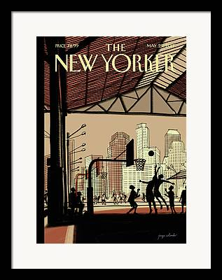 Brooklyn Bridge Digital Art Framed Prints