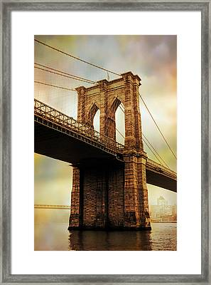 Brooklyn Bridge Perspective Framed Print by Jessica Jenney