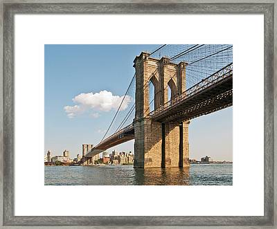Brooklyn Bridge Framed Print by Phil Haber Photography