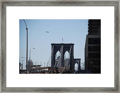 Brooklyn Bridge Framed Print by Rob Hans